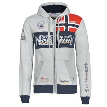Textil Muži Mikiny Geographical Norway FLYER Šedá / Sepraný