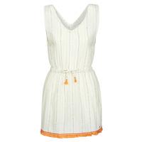 Textil Ženy Krátké šaty Banana Moon MARZUL MANDALO Bílá / Oranžová