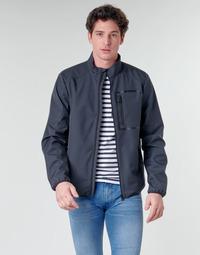 Textil Muži Bundy Geox OTTAYA JKT Tmavě modrá / Černá