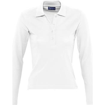 Textil Ženy Polo s dlouhými rukávy Sols PODIUM COLORS Blanco