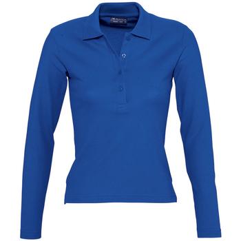 Textil Ženy Polo s dlouhými rukávy Sols PODIUM COLORS Azul