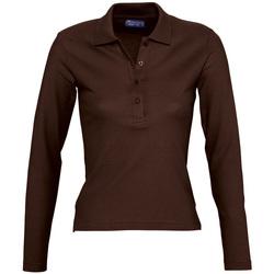 Textil Ženy Polo s dlouhými rukávy Sols PODIUM COLORS Marr?n