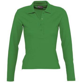 Textil Ženy Polo s dlouhými rukávy Sols PODIUM COLORS Verde