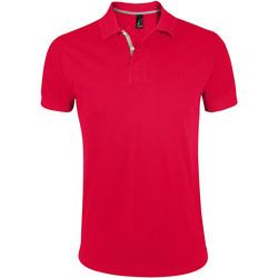 Textil Muži Polo s krátkými rukávy Sols PORTLAND MODERN SPORT Rojo
