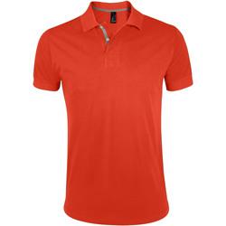 Textil Muži Polo s krátkými rukávy Sols PORTLAND MODERN SPORT Naranja