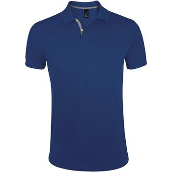 Textil Muži Polo s krátkými rukávy Sols PORTLAND MODERN SPORT Azul