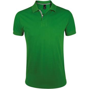 Textil Muži Polo s krátkými rukávy Sols PORTLAND MODERN SPORT Verde