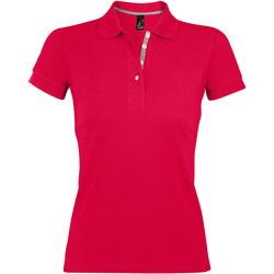 Textil Ženy Polo s krátkými rukávy Sols PORTLAND MODERN SPORT Rojo