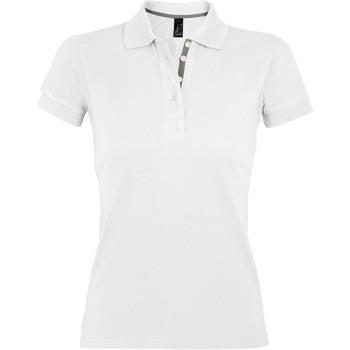 Textil Ženy Polo s krátkými rukávy Sols PORTLAND MODERN SPORT Blanco