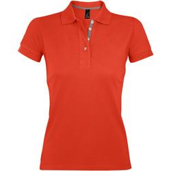 Textil Ženy Polo s krátkými rukávy Sols PORTLAND MODERN SPORT Naranja