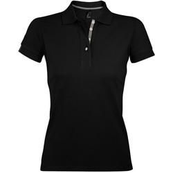 Textil Ženy Polo s krátkými rukávy Sols PORTLAND MODERN SPORT Negro