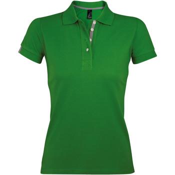 Textil Ženy Polo s krátkými rukávy Sols PORTLAND MODERN SPORT Verde