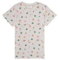 Textil Dívčí Trička s krátkým rukávem Deeluxe ELINA Bílá