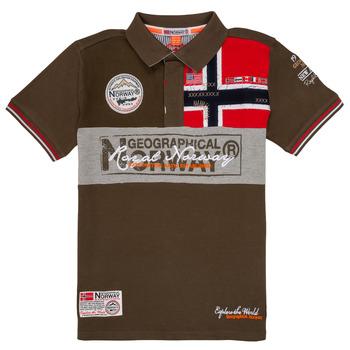 Textil Chlapecké Polo s krátkými rukávy Geographical Norway KIDNEY Khaki