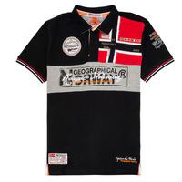 Textil Chlapecké Polo s krátkými rukávy Geographical Norway KIDNEY Černá