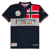 Textil Chlapecké Polo s krátkými rukávy Geographical Norway KIDNEY Tmavě modrá