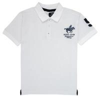 Textil Chlapecké Polo s krátkými rukávy Geographical Norway KAMPAI Bílá