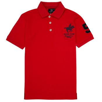 Textil Chlapecké Polo s krátkými rukávy Geographical Norway KAMPAI Červená