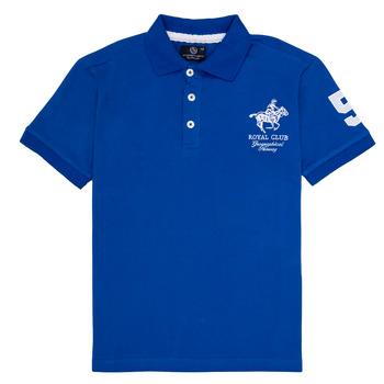 Textil Chlapecké Polo s krátkými rukávy Geographical Norway KAMPAI Modrá