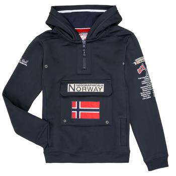 Textil Chlapecké Mikiny Geographical Norway GYMCLASS Tmavě modrá