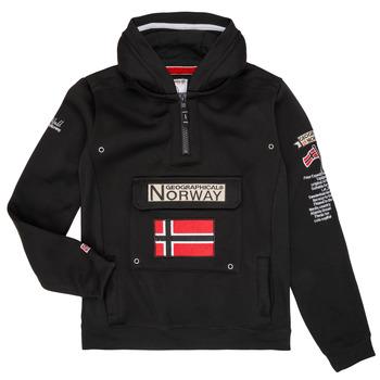 Textil Chlapecké Mikiny Geographical Norway GYMCLASS Černá