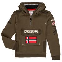Textil Chlapecké Mikiny Geographical Norway GYMCLASS Khaki
