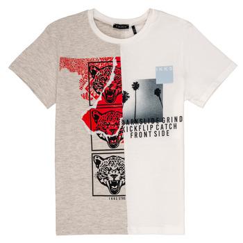 Textil Chlapecké Trička s krátkým rukávem Ikks RULIO Béžová / Bílá