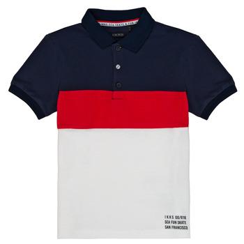 Textil Chlapecké Polo s krátkými rukávy Ikks LORIE Bílá