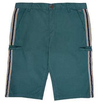 Textil Chlapecké Kraťasy / Bermudy Ikks MANUEL Modrá / Zelená