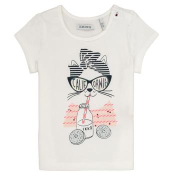 Textil Dívčí Trička s krátkým rukávem Ikks MEOLIA Bílá