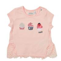 Textil Dívčí Trička s krátkým rukávem Ikks DANIA Růžová