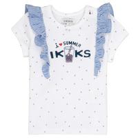 Textil Dívčí Trička s krátkým rukávem Ikks HILONA Bílá