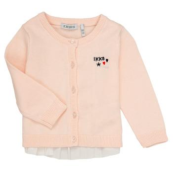 Textil Dívčí Svetry / Svetry se zapínáním Ikks ADIL Růžová