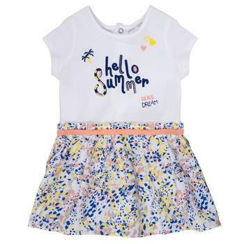Textil Dívčí Krátké šaty Ikks NIKLO Bílá