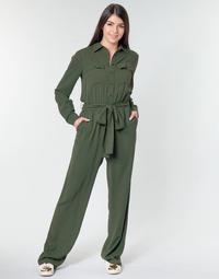 Textil Ženy Overaly / Kalhoty s laclem MICHAEL Michael Kors ROLL SLV SAFARI JMPST Khaki