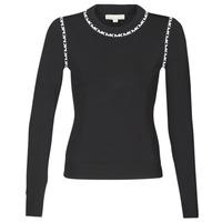 Textil Ženy Svetry MICHAEL Michael Kors MK TRIM LS CREW Černá