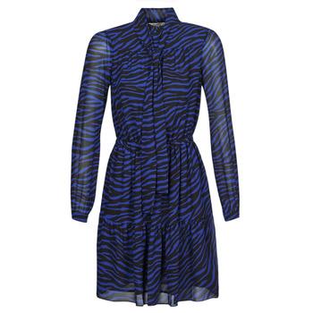 Textil Ženy Krátké šaty MICHAEL Michael Kors BOLD BENGAL TIER DRS Modrá / Černá