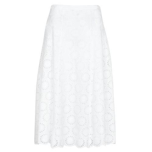 Textil Ženy Sukně MICHAEL Michael Kors FLORAL EYLT LNG SKIRT Bílá