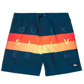 Textil Chlapecké Plavky / Kraťasy Quiksilver WORD BLOCK VOLLEY YOUTH Modrá