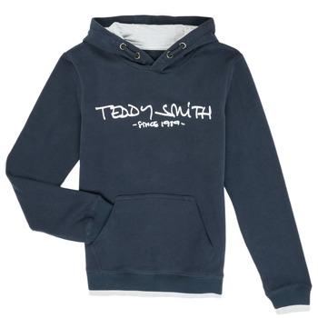 Textil Chlapecké Mikiny Teddy Smith SICLASS Modrá