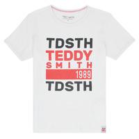 Textil Chlapecké Trička s krátkým rukávem Teddy Smith DUSTIN Bílá
