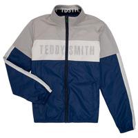 Textil Chlapecké Bundy Teddy Smith HERMAN Šedá / Tmavě modrá