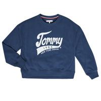 Textil Dívčí Mikiny Tommy Hilfiger KG0KG04955 Tmavě modrá