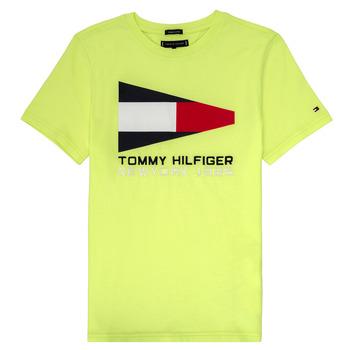 Textil Chlapecké Trička s krátkým rukávem Tommy Hilfiger KB0KB05628 Žlutá