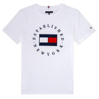 Textil Chlapecké Trička s krátkým rukávem Tommy Hilfiger KB0KB05718 Bílá