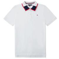 Textil Chlapecké Polo s krátkými rukávy Tommy Hilfiger KB0KB05658 Bílá