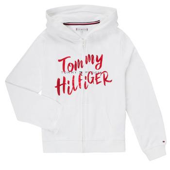 Textil Dívčí Mikiny Tommy Hilfiger KG0KG05043 Bílá