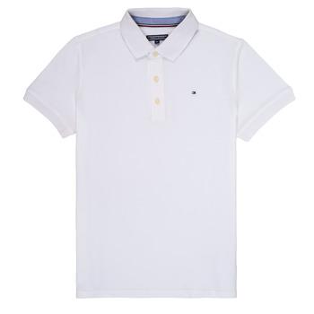 Textil Chlapecké Polo s krátkými rukávy Tommy Hilfiger  Bílá
