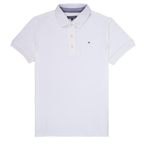 Textil Chlapecké Polo s krátkými rukávy Tommy Hilfiger KB0KB03975 Bílá