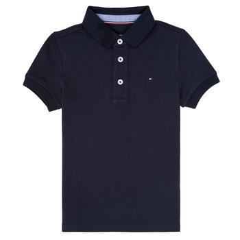 Textil Chlapecké Polo s krátkými rukávy Tommy Hilfiger KB0KB03975 Tmavě modrá